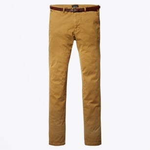 - Stuart Regular Slim Fit Chinos - Signal Yell