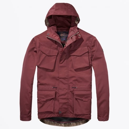 Scotch & Soda - Technical Hooded Jacket - Oxblood
