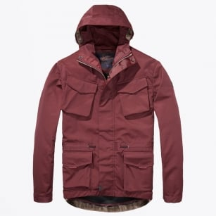 - Technical Hooded Jacket - Oxblood