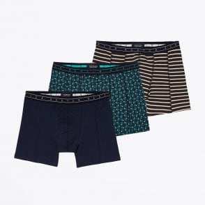 - Three-Pack Printed Boxer Briefs - Multi