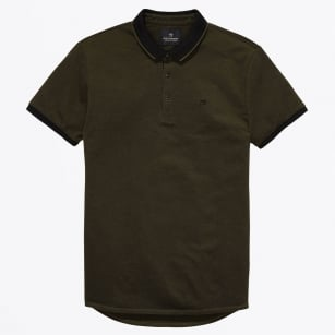 - Tipped Pique Polo - Green