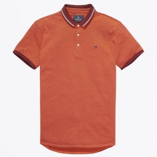 - Tipped Pique Polo - Orange