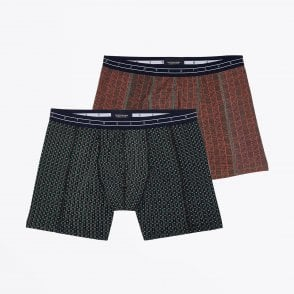 - Two-Pack Printed Boxer Briefs - Black/Multi