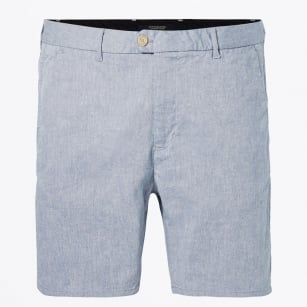 - Two Tone Chino Shorts - Medium Length - Winter Blue