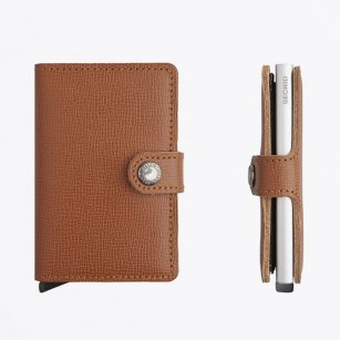 | Miniwallet : Crisple Caramel Leather