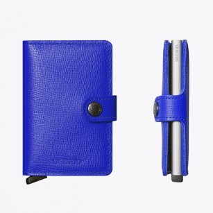 | Miniwallet : Crisple Cobalt Leather