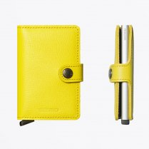 - Miniwallet : Crisple Lemon Leather
