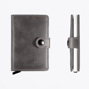 | Miniwallet : Vintage Grey Leather