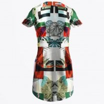 - Botanical Printed Dress - Green