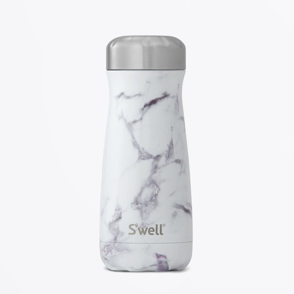 S Well Traveller Collection White Marble 16oz Mr