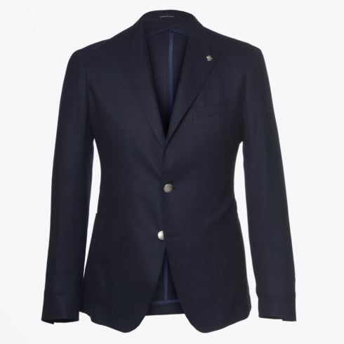 Tagliatore - Metal Button Jacket - Navy