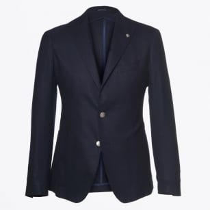 | Metal Button Jacket - Navy