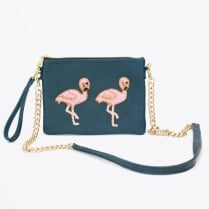 - Holbox Flamingo Small Cross Body Bag - Blue