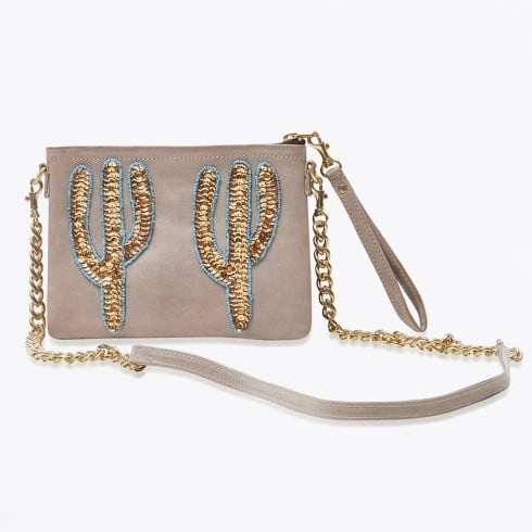 Tea & Tequila - Sonora Coffee Gold Cactai Small Cross Body Bag