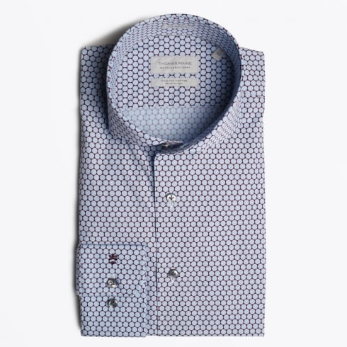 Thomas Maine - Bari Blue Circle Print Shirt