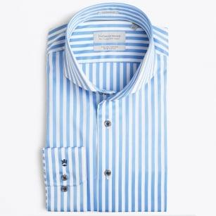   Bari Cutaway Bold Stripe - Blue