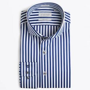   Bari Cutaway - Bold Stripe - Navy/White