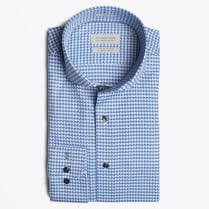 - Bari Dogs Tooth Blue Shirt