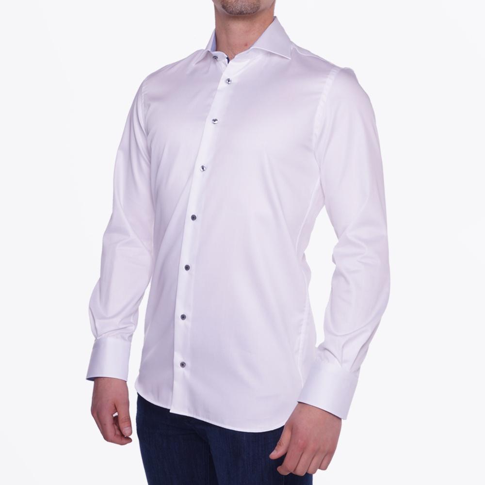 thomas maine contrast collar dress shirt mr mrs stitch
