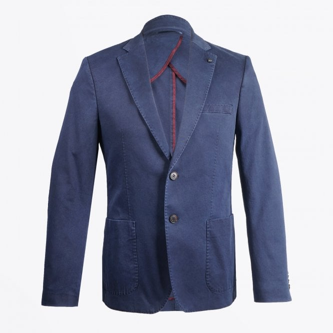 Thomas Maine - Cotton Stretch Blazer - Navy