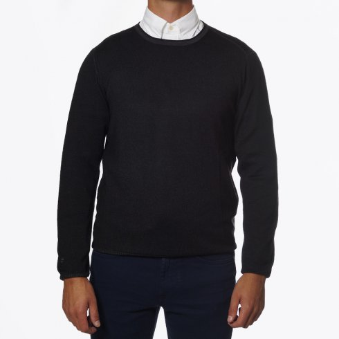 Thomas Maine - Crew Neck Dark Grey Jumper