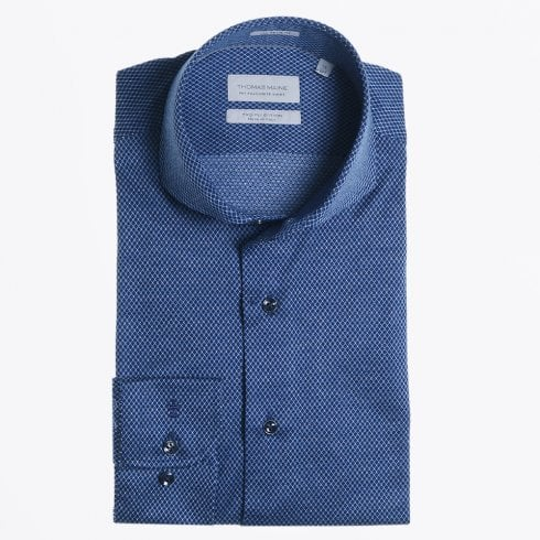 Thomas Maine - Diamond Weave Shirt - Navy