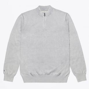   half Zip Knit - Grey
