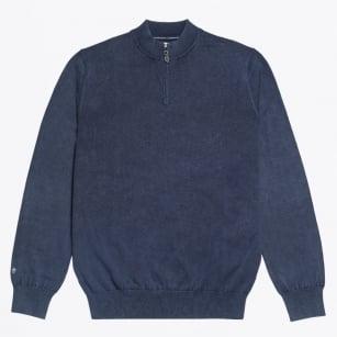   Half Zip Knit - Navy