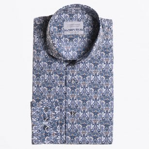 - Liberty Butterfly Printed Shirt - Petrol