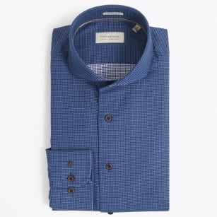 | Small Puppytooth Check Shirt - Navy