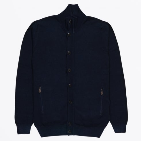 Thomas Maine - Vintage Wash Cardigan - Navy