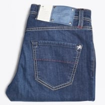 - Lenardo 6 Month Bolt Denim Jeans - Deep Blue