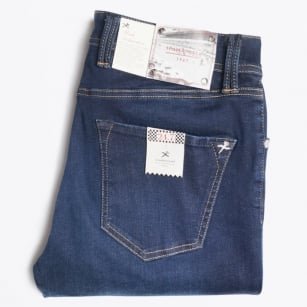 - Leonardo 6 Month Stretch Comfort Jeans - Blue