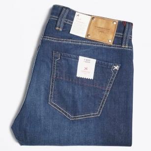 | Michelangelo 6 Month Bolt Denim Jeans - Deep Blue