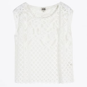 - Katja Lace Tank Top - White