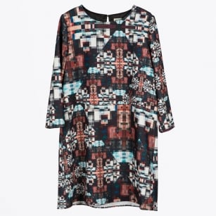 | Sasha Print Shift Dress - Multi