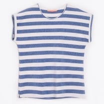 - Amalia Metallic Stripe - Silver/Blue
