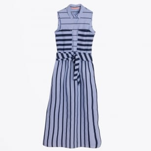 - Arianne Stripe Shirt Dress - Blue/Navy