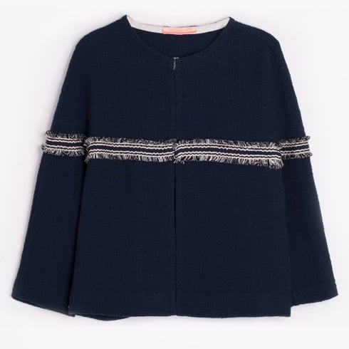 Vilagallo - Ashley Frill Detail Jacket - Navy