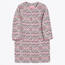 - Aztec Print Long Coat