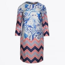 - Class - Abstract Print Dress - Verona