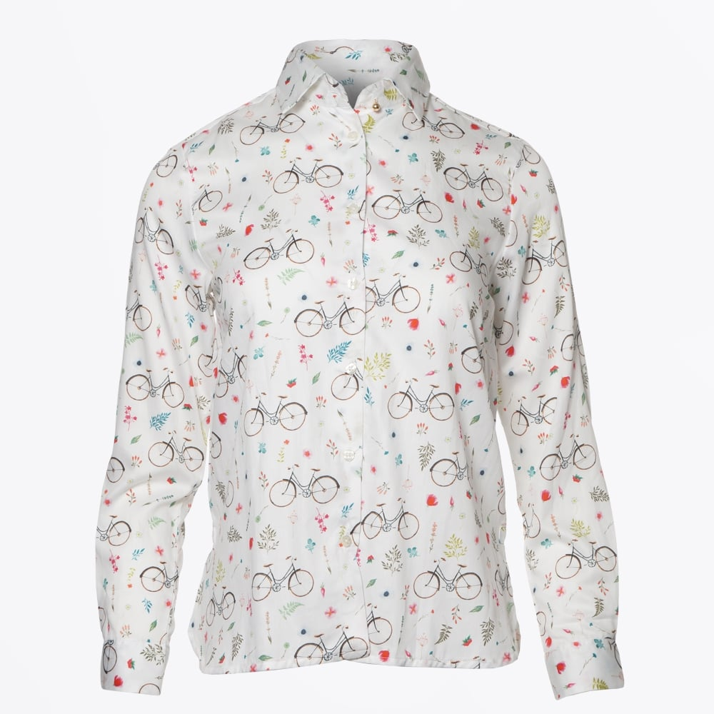dover bicycle print women 39 s shirts blouses for women