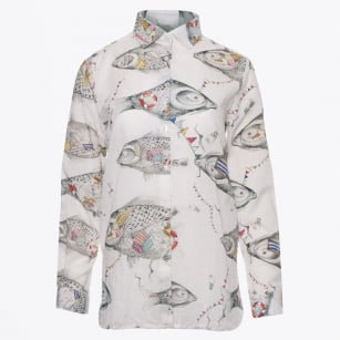 - Dover - Big Fish Print Shirt