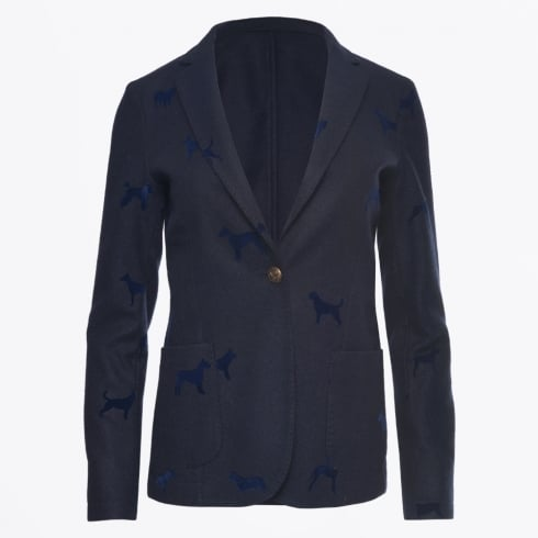 Vilagallo - Harlow Dog Flock Blazer - Navy
