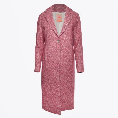 Vilagallo - Harper Long Tweed Coat - Pink