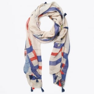 | Insects & Tassels Scarf - Scarabeo