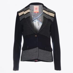 | Napolitan Block Stripe Blazer - Black