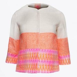 | Sandra - Linen Weave Jacket - Ascot Jacquard