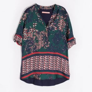 - Satellite Printed Top - Green