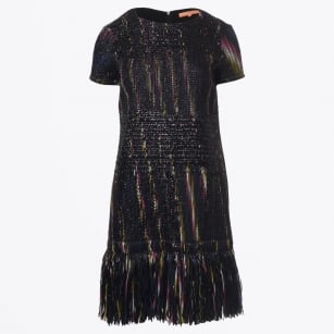 - Tea Fringed Dress - Black